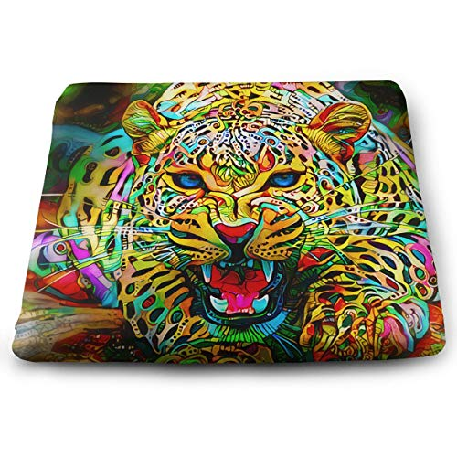 (WEIPING LF Rainbow Floral Tiger Memory Foam Seat Cushion, Chair Pad)