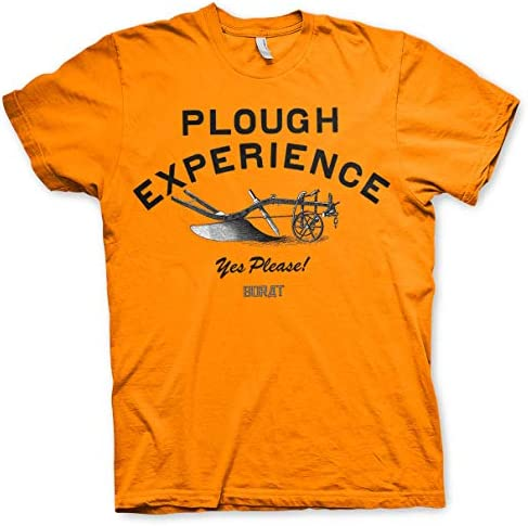 Offizielles Lizenzprodukt Plough Experience Yes Please Herren T-Shirt (Orange)