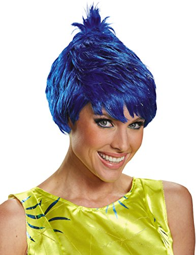 Disguise Women's Joy Adult Costume Wig, Blue, One (Inside Out Joy Costume)