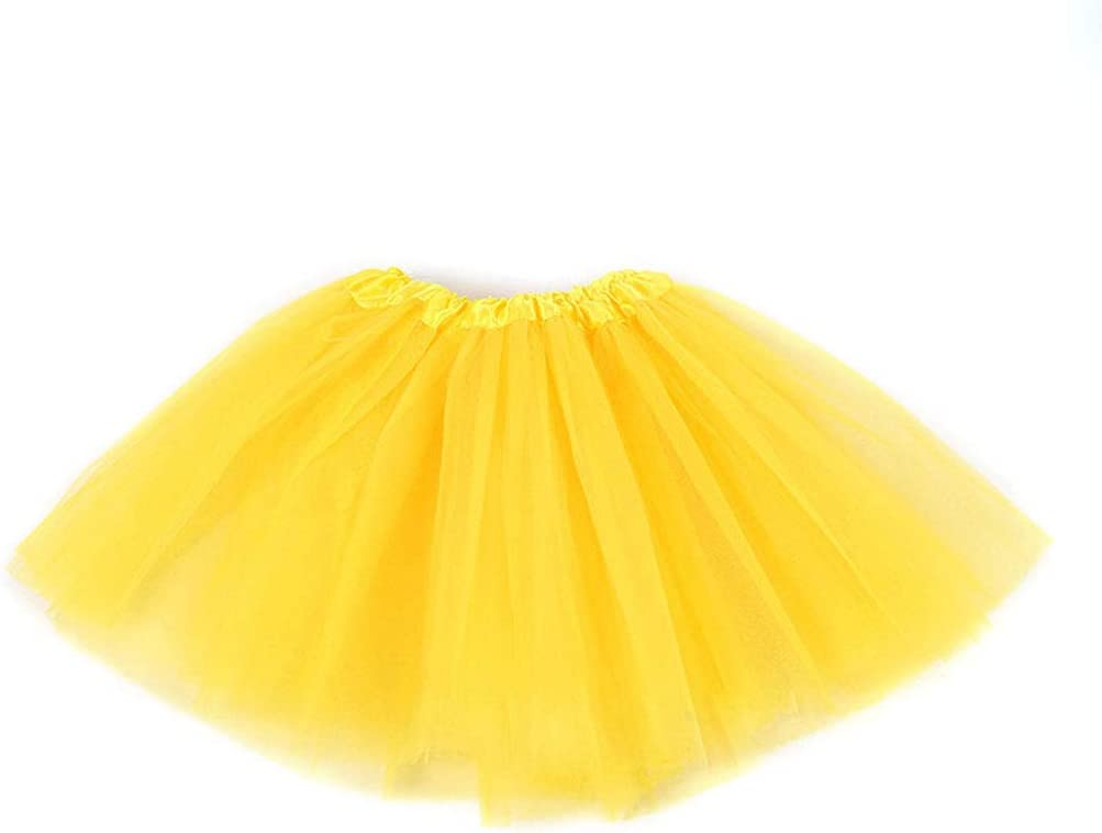 Tutu Skirt Classic Solid Color Mini Pleated Dress Elastic Party Petticoat Underskirt 10 Colors 2-8T Xiuinserty Ballet Dance Skirts Children Kids Girl Three Layered