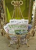 Ornate Gold Swag Tassel Wall Basket | Baroque Hanging Flower Metal