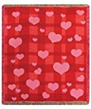 "Loving Hearts Valentine's Day Tapestry Throw Blanket 50"" x 60"""