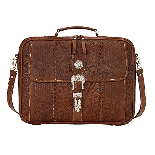Retro Romance Travel Leather Laptop Briefcase