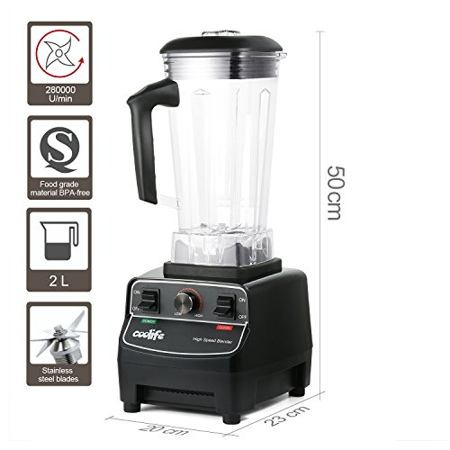 Industrial Kitchen Blender: Commercial Blender, Coolife Professional Kitchen Blender