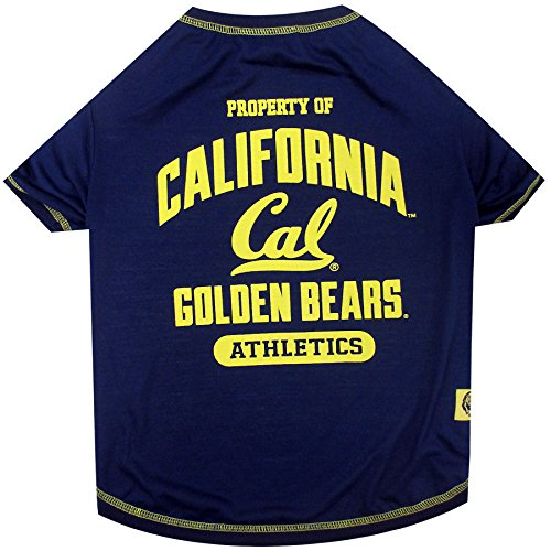 NCAA California Golden Bears Berkeley Dog T-Shirt, Small