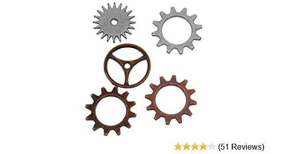 Various Sizes 5-Per Pack Antique Finishes Tim Holtz Idea-ology Metal Timepieces TH92831