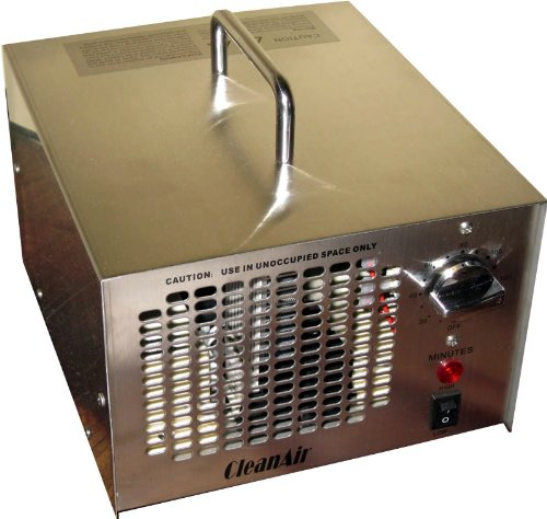 CleanAir Commercial or Industrial Stainless Inure Ozone Generator 7,000 Mg (7g) Air Deodorizer Ionizer, 120 Minute Timer