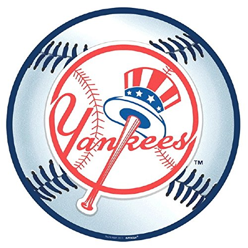 Sports and Tailgating MLB Party New York Yankees Cutout Decoration, Paper, 12
