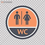 Decal Vinyl Toilet Sing Doors Restroom Bathroom Ladies Room Store Re Car window jet ski girl gentleman baby sex (11 X 11 Inches) Fully Waterproof Printed vinyl sticker