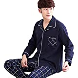 Only Faith Lovely Couple's Cotton Long Sleeve Pajamas Homewear Suit (XXL, men)