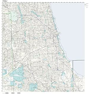 Amazoncom Chicago IL ZIP Code Map Laminated Home Kitchen