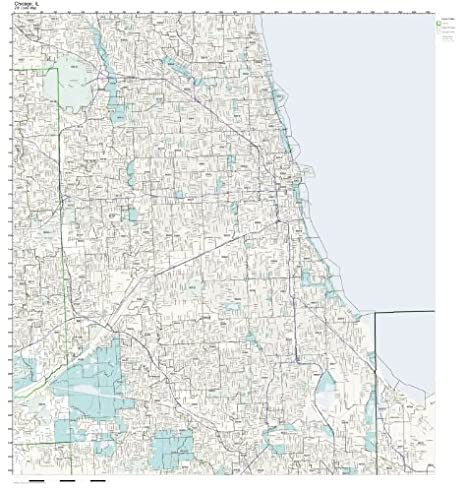 Amazon Com Zip Code Wall Map Of Chicago Il Zip Code Map Not