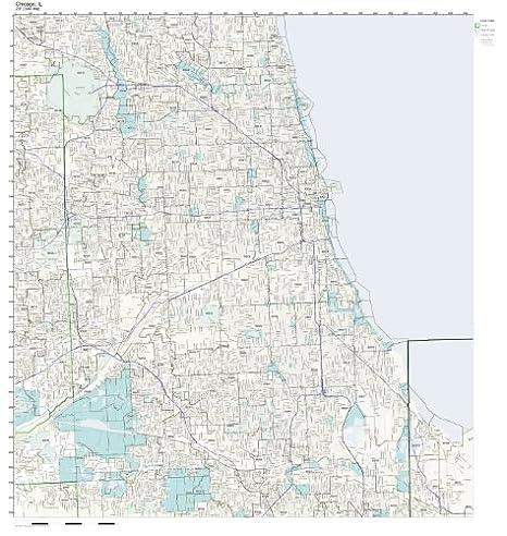 Amazon Com Zip Code Wall Map Of Chicago Il Zip Code Map Not