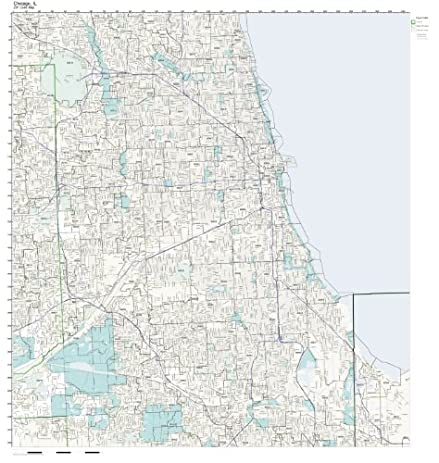 Amazoncom ZIP Code Wall Map of Chicago IL ZIP Code Map