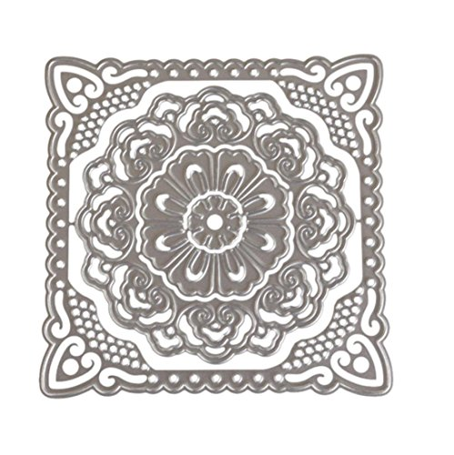 Caopixx Lace Flower DIY Scrapbooking Cutting Dies Metal Stencil Template for Greeting Card Cover Embossing (I1)
