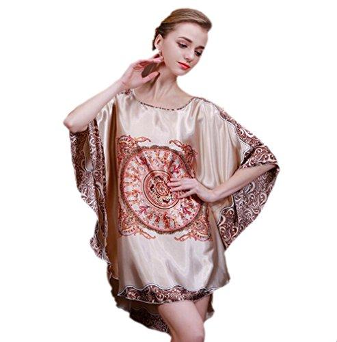 per donna da taglia stile notte Bagno stampato unica elegante 27 Acvip camera 19 Camicia da colori Abito Accappatoio fqWWvPCc