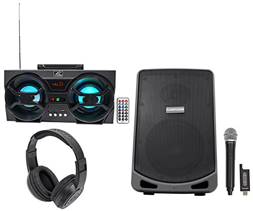 Samson Expedition XP106W 6'' Rechargeable Powered PA DJ Speaker+Mic+Free Boombox! by Samson Technologies