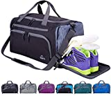 Venture Pal Packable Sports Gym Bag with Wet Pocket & Shoes Compartment Travel Duffel Bag for men and Women-Black