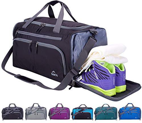 Venture Pal Packable Sports Gym Bag with Wet Pocket & Shoes Compartment Travel Duffel Bag for men and Women – DiZiSports Store