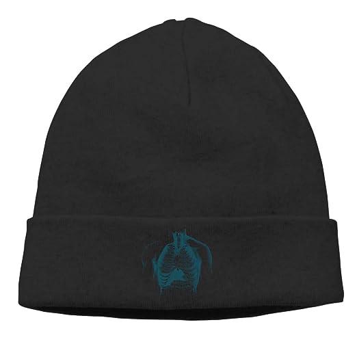 c60aab4584b Amazon.com  Gkf Knit Beanie Hat Warm Skull Cap Medicine Fold Beanie ...