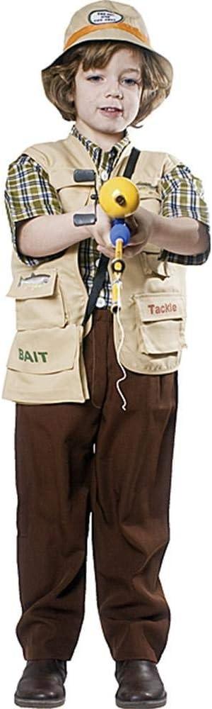 Dress up America Disfraz de Pescador de niños: Amazon.es: Juguetes ...