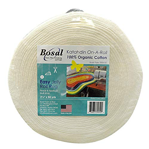 Bosal Katahdin On-A-Roll Organic Cotton Batting 2-1/4 inches by 50 ()
