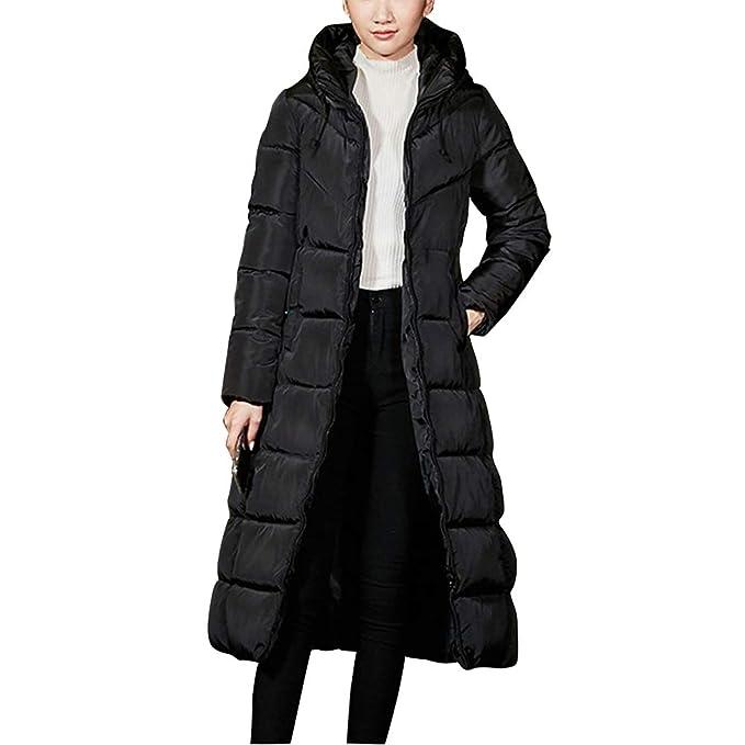 5719eeee5b0d Zhhlinyuan Mujer Invierno Chaquetas Acolchado Calor Grueso Abrigo de ...