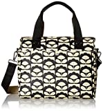 Orla Kiely Women's Spring Bloom Zip Messenger, Charcoal