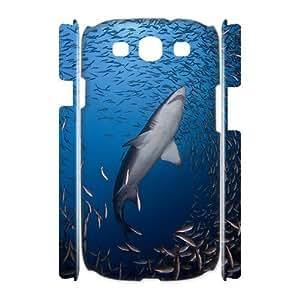 HXYHTY Deep Sea Shark Customized Hard 3D Case For Samsung Galaxy S3 I9300