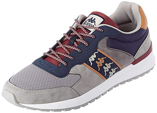 Kappa Men's Top Track Shoe, Azul Marino Gris, Womens 10