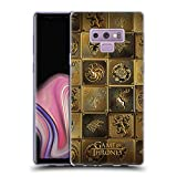 Official HBO Game of Thrones All Houses Golden Sigils Soft Gel Case for Samsung Galaxy Note9 / Note 9
