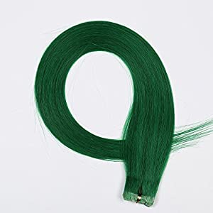 DSOAR 6A 24 Inch Tape In PU Human Hair Extension 1.5g/pc,10pcs/lot,Green Color,