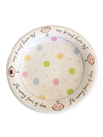 Design Design Baby Faces Pastel Color Polka Dots Dessert Paper Plates 8 ct.  sc 1 st  Amazon.com : spotty paper plates - pezcame.com