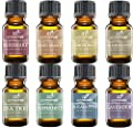 Art Naturals Top 8 Essential Oils Set 10ml each - Lavender, Tea tree, Peppermint, Frankincense, Eucalyptus, Sweet Orange, Rosemary & Lemongrass - 100% Pure Therapeutic Grade - 2016 Edition Kit
