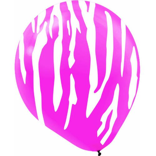 Zebra Print Latex Balloons | Party Decor