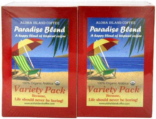 Aloha Island Coffee Company Variety Pack, 36-Count Organic Coffee (Aloha Island Island Breakfast)