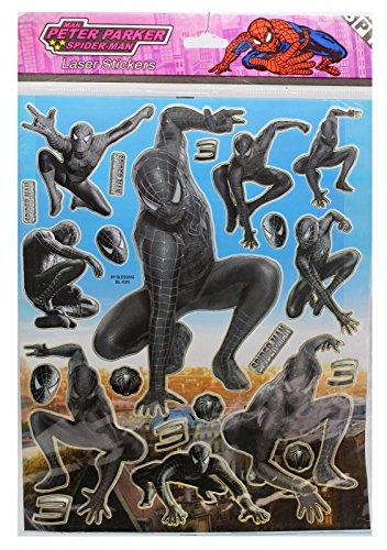 Spiderman 3 Symbiote Costume (Marvel's Spider-Man 3 Spider-Man Symbiote Costume Stickers (22 Stickers))