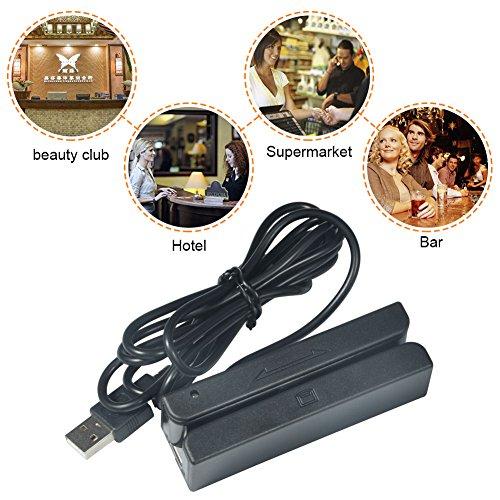 Co Mag Stripe - MSR580/MSR90 USB Three-track Magnetic Stripe Card Reader Mini Mag Hi-Co Swiper (MSR58)
