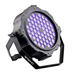 DragonX LED UV Blacklight/ 54X3W Super Bright DJ LED Black Light DMX512 Dimmable Spotlight w/ Strobe
