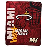 "The Northwest Company NBA Lightweight Fleece Blanket (50"" x 60"") - Miami Heat"