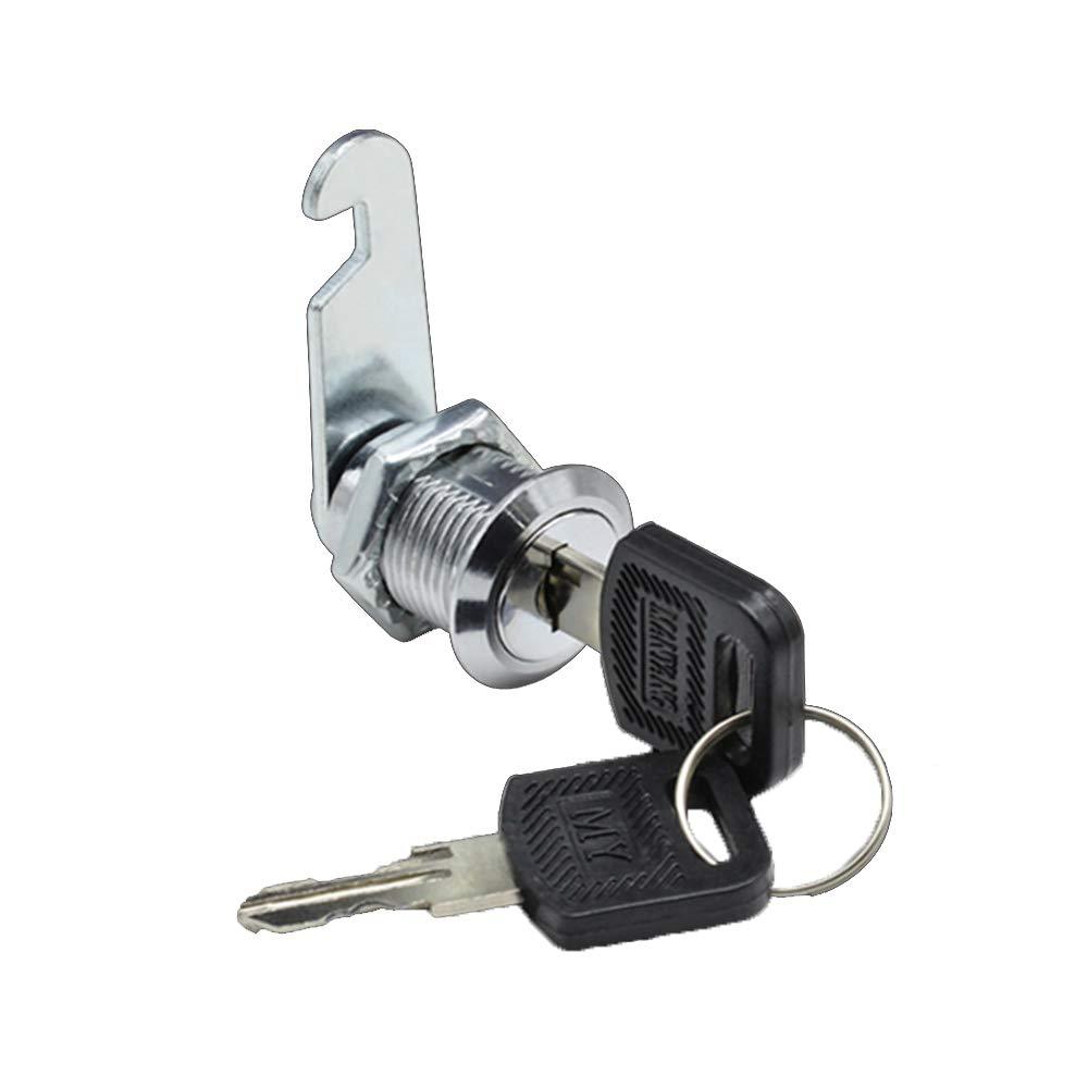 2 20mm Cam Lock For Door Cabinet Mailbox Drawer Cupboard Post Box Locker