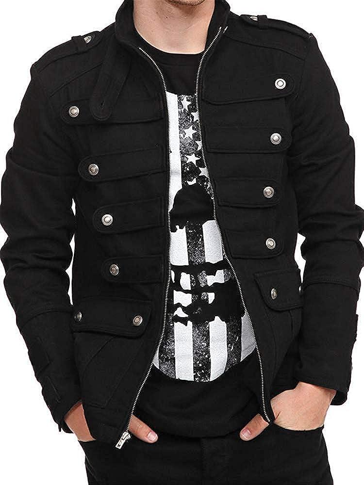 DaiWeiDress Mens Officer Uniform Military Drummer Parade Jacket Costume Party Outwear