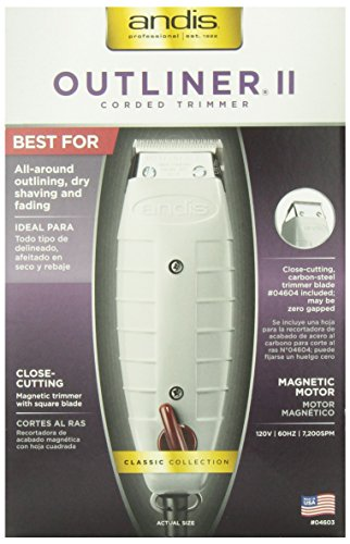 Andis Professional Outliner II Personal Trimmer, Gray