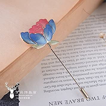 Amazoncom Korean Literary Sen Deparent Of Lotus Leaf Brooch Rose