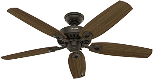 Hunter Fan Company Hunter 53242 Transitional 52 Ceiling Fan from Builder Elite collection Dark finish, New Bronze