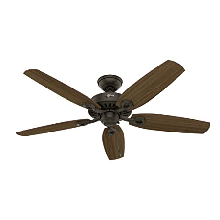 Hunter 53242 Builder Elite 52-inch Ceiling Fan with five Harvest Mahogany Brazilian Cherry Reversible Blades
