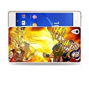 Case88 Designs Dragon Ball Z GT AF Super Saiyan Son Goku Son Gohan Protective Snap-on Hard Back Case Cover for Sony Xperia Z3