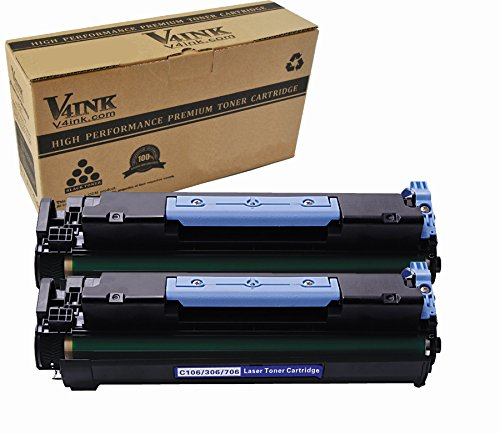 V4INK 2 Pack New Compatible (Black) Toner Cartridge Replacement for Canon 106 (0264b001aa) and imageClass MF6530 MF6540 MF6550 MF6560 MF6580 MF6590 MF6595 Series 5000p Yield 106 Black Toner Cartridge
