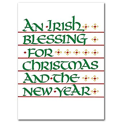 Christmas Blessing Prayer.Amazon Com An Irish Blessing Prayer Deluxe Christmas Cards