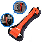 MeiBoAll Car Safety Hammer Window Breaker SeatBelt Cutter Emergency Escape Tool,Orange